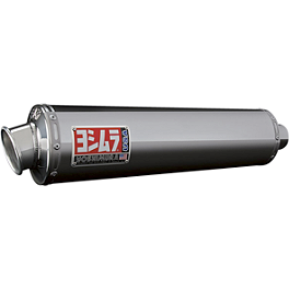 Yoshimura RS-3 Slip-On Exhaust - Stainless Steel - Leo Vince SBK Oval Evo II Slip-On - Aluminum