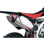 Yoshimura RS-4D Pro Series Full System Exhaust - Titanium/Carbon Fiber - Suzuki RMZ450 Dirt Bike Exhaust