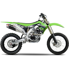 Yoshimura RS-4D Full System Exhaust - Carbon Fiber - 2012 Kawasaki KX450F Yoshimura RS-4 Pro Series Full System Exhaust - Titanium/Carbon With Carbon Fiber End Cap
