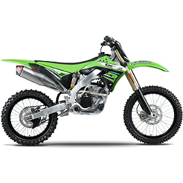 Yoshimura RS-4D Pro Series Full System Exhaust - Titanium/Titanium - 2012 Kawasaki KX250F Yoshimura Rear Brake Clevis Kit - Red