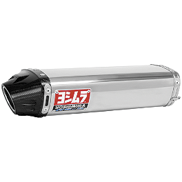 Yoshimura RS-5 Slip-On Exhaust - Stainless Steel - Jardine RT-1 Carbon Fiber Dual Outlet Slip-On Exhaust