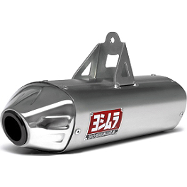 Yoshimura RS-8 Slip-On Exhaust - Stainless Steel - 2009 Yamaha RHINO 700 Yoshimura EMS PIM-2 Unit