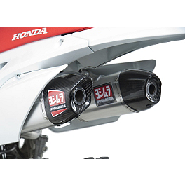 Yoshimura RS-9D Slip-On Dual Exhaust - Stainless/Aluminum - 2013 Honda CRF450R Yoshimura Oil Filler Plug - Red