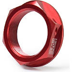 Yoshimura Steering Stem Nut - Red - Yoshimura Motorcycle Controls