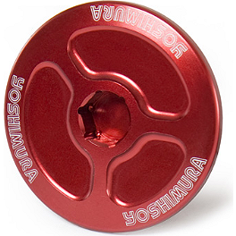 Yoshimura Large Engine Plug - Red - Yoshimura Steering Stem Nut - Red