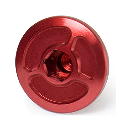 Yoshimura Small Engine Plug - Red - Yoshimura Steering Stem Nut - Red