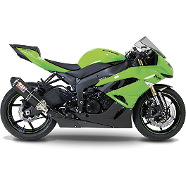 Yoshimura TRC Slip-On Exhaust - Carbon Fiber - 2010 Kawasaki ZX600 - Ninja ZX-6R Akrapovic Slip-On Exhaust - Carbon Fiber