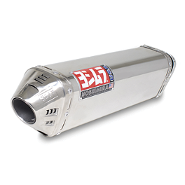 Yoshimura TRC Slip-On Exhaust - Stainless Steel - Vance & Hines CS One Slip-On Exhaust - Black