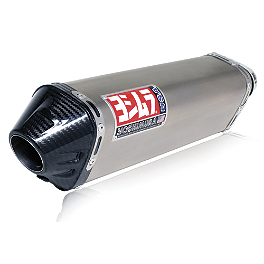 Yoshimura TRC Slip-On Exhaust - Titanium Single Canister - Yoshimura R-77 EPA Compliant Slip-On Exhaust - Titanium With Carbon Fiber End Cap