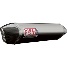 Yoshimura TRC-D Slip-On Exhaust - Stainless Steel With Carbon Fiber End Cap - Yoshimura R-77 EPA Compliant Slip-On Exhaust - Titanium With Carbon Fiber End Cap