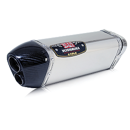 Yoshimura TRC-D Slip-On Exhaust - Stainless Steel Single Canister - Yoshimura R-77 Slip-On Exhaust - Stainless Steel Single With Stainless End Cap