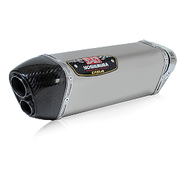 Yoshimura TRC-D Slip-On Exhaust - Titanium Single Canister - Yoshimura R-77 Slip-On Exhaust - Stainless Steel Single With Stainless End Cap