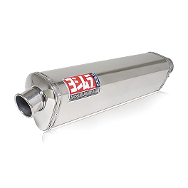 Yoshimura TRS Slip-On Exhaust - Stainless Steel - 2008 Suzuki SV650 Leo Vince SBK Oval Evo II Slip-On - Carbon Fiber