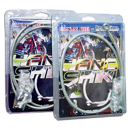 Yana Shiki Front And Rear Brake Line Combo - 2007 Suzuki GSX-R 600 Yana Shiki Universal Diamond Cut-Out Flat Grips - Black