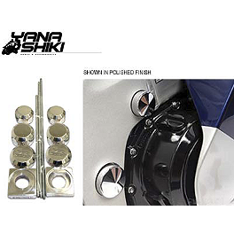 Yana Shiki Billet Dress Up Kits - Polished - 2011 Suzuki GSX1300R - Hayabusa Yana Shiki Gauge Face Cover - Black