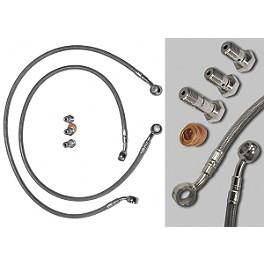 Yana Shiki Front Brake Line Kit - 2006 Honda CBR600RR Yana Shiki Universal Diamond Cut-Out Flat Grips - Black