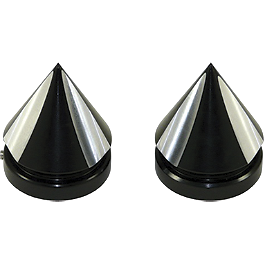 Yana Shiki Spiked Fork Caps - Black - Powerstands Racing Lowering Link - 2-1/2