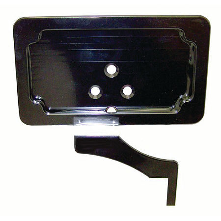 Yana Shiki Rear Footpeg License Plate Mount Bracket - Black - Main