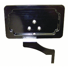 Yana Shiki Rear Footpeg License Plate Mount Bracket - Black - Yana Shiki Billet Stator Cover - Polished
