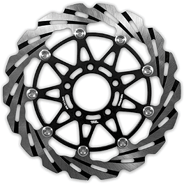 Yana Shiki Front Rotor - Right - 2004 Honda CBR600F4I Yana Shiki Universal Diamond Cut-Out Flat Grips - Black