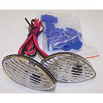Yana Shiki Flush Mount Front LED Turn Signals - Honda CBR600F4I Motorcycle Lights and Electrical