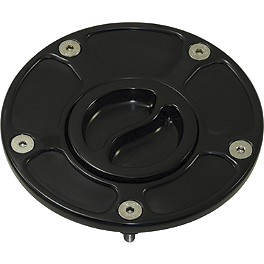 Yana Shiki Billet Gas Cap - Black - 2005 Kawasaki ZX600 - Ninja ZX-6RR Galfer Rear Brake Line Kit - +6 Inches