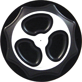 Yana Shiki Billet Gas Cap - Black - Vortex Color Gas Cap Base