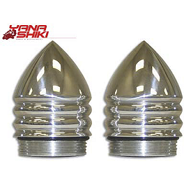 Yana Shiki Grip End Caps - Polished - 1994 Honda CBR900RR Yana Shiki Fairing Bolt Kit