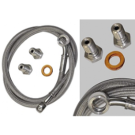 Yana Shiki Rear Brake Line Kit - 2004 Honda CBR600F4I Yana Shiki LRC Mirror Block Off Caps - Chrome
