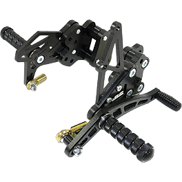 Yana Shiki Billet Rearset - Black - 2010 Yamaha YZF - R6 Woodcraft Rearset Kit With Shift Pedal
