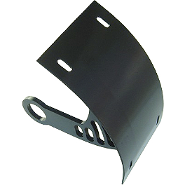 Yana Shiki Universal Axle Mount License Plate Bracket - Black - Yana Shiki Billet Gas Cap - Black