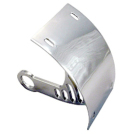 Yana Shiki Universal Axle Mount License Plate Bracket - Silver - 2002 Yamaha YZF - R1 Yana Shiki LRC Mirror Block Off Caps - Chrome
