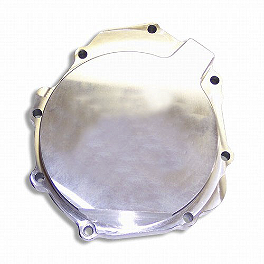 Yana Shiki Billet Stator Cover - Polished - Kuryakyn Clutch Top Cover