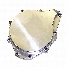 Yana Shiki Billet Stator Cover - Chrome - Yana Shiki LRC Engraved Billet Stator Cover - Polished