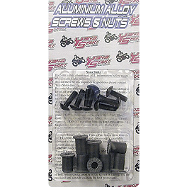 Yana Shiki Windscreen Bolt Kit - Yana Shiki Universal Axle Mount License Plate Bracket - Black