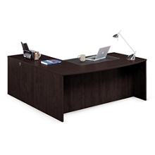"Solutions Bowfront Executive L-Desk with Right Return - 71""W, 10060"