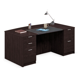 """Solutions Bowfront Executive Desk - 71""""W, 10066"""