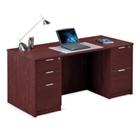 """Solutions Double Pedestal Desk - 66""""W, 10067"""