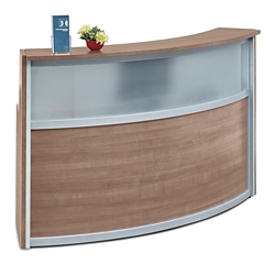 """Compass Reception Desk with Glass Panel - 72""""W x 30""""D, 10143"""