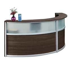 office reception counter compass double reception desk with glass panel 125quotw x bow front reception counter office reception desk