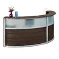 "Compass Double Reception Desk with Glass Panel - 125""W x 48""D, 10144"