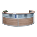 "Compass Laminate and Glass Triple Reception Desk - 142""W x 72""D, 10145"