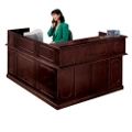 Traditional Reception L-Desk with Right Return, 10515