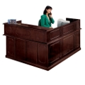 Traditional Reception L-Desk with Left Return, 10516