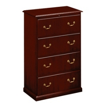 Traditional Four Drawer Lateral File, 10595