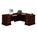 Traditional Executive L-Desk with Left Return, 10616