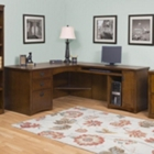 Mission Oak Executive L-Desk with Right Return, 10928