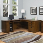 Mission Oak Executive L-Desk with Left Return, 10929