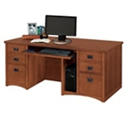 Mission Oak Executive Computer Desk, 10937