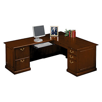 traditional l desk with left return 10962 and more